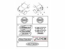 Chrome Logo Rear Genuine Emblem Decal for Nissan Juke F15 Hatchback 2010 2016