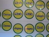 "Deb  12 LAWN BOWLS STICKERS 1/""  NEW CROWN GREEN BOWLS FLAT GREEN  BOWLS"