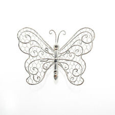 AGED METAL  BUTTERFLY WALL ART FOR HOME OR GARDEN LOVELY ANTIQUE FINISH