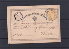 Ganzsache Correspondenzkarte Stempel Postambulance Nr. 8 gelaufen Wien Währing