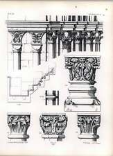 Gothic Worms Church St Paul Profiles Arch Moulds Capitals Pillars