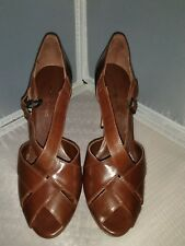 Banana Republic Women's Brown Leather Heels Dress Pumps Size 6