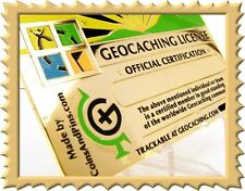 24k Gold Official Geocaching Caching License ROT13 Decoder Engraveable - GEOCOIN