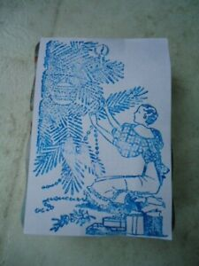 """Woman Trimming Tree Acrylic Mounted Rubber Stamp 3 ¾"""" X 2 ¾"""""""