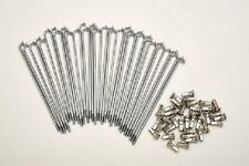 kit 40 spokes and nipples polished steel diameter 3,5 mm length 160 mm 90° new