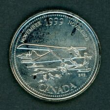 1999 Canada 25-cents Coin November Mule Error Quarter