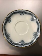 vintage STANLEY OSTEND POTTERY Sauce Dish Bowl FLOW BLUE  England