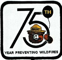 ⫸ Official SMOKEY BEAR 75th Birthday Patch USFS Forest Fire Fighter NEW -S10