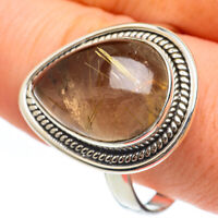Rutilated Quartz 925 Sterling Silver Ring Size 12.75 Ana Co Jewelry R61647F