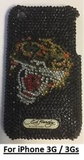 "Ed Hardy ""TIGER"" crystal studded Phone Case for iPhone 3G/3GS + Screen protector"