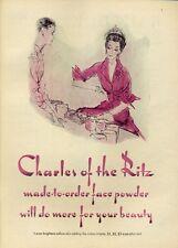 1952 Charles of the Ritz Face Powder Makeup  PRINT AD
