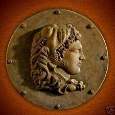 Alexander the Great stone wall relief plaque art sculpture home garden decor
