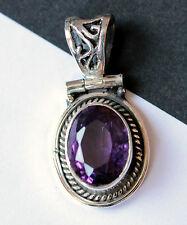 AMETHYST pendant in 925 Silver Precious stone Jewelry purple Noble pretty