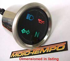 Dash Idiot Warning Lights With Clock Watch Custom Motorcycle Bobber Chop Trike