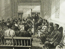 San Francisco Rev. O. Gibson CHINESE METHODIST CHAPEL 1875 Antique Print Matted