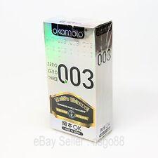 10p Okamoto 003 0.03mm Platinum condom Lubricant Super Ultra THIN condoms