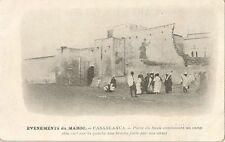 CARTE POSTALE AFRIQUE MAROC CASABLANCA PORTE DU SOUK CONDUISANT AU CAMP