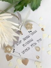 SALE Step Mums Flowers Heart Keepsake Gift Birthday Mothers Day Sign Plaque S65