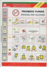 TAP Air Portugal airline SAFETY CARD 320 Abril 2003 emergency brochure sc896 ax