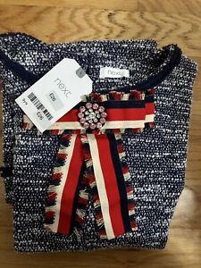 Next Zara Girls Tweed Dress sz 9