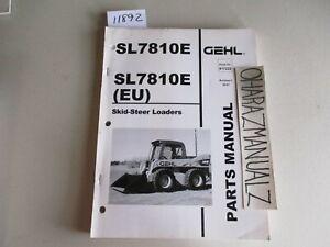 GEHL SL7810E (EU) Skid Steer Loaders Parts Manual