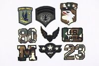 Camouflage Patches Iron On Appliques Patch Army Military Pattern Hawk Badge 2pcs