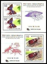Korea - SC 1767a-68a Butterfly Insect SS 1994