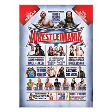Wrestlemania 32 WWE Licensed 2016 24X36 Poster Triple H Undertaker Brock Lesnar