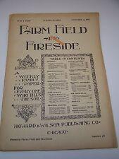 Farm Field Fireside Magazine Paper Nov 30 1985  Antique Vintage  Number 48