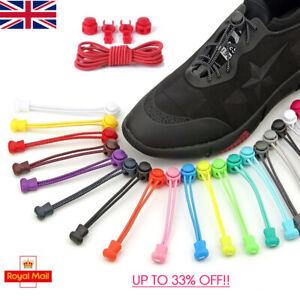 No Tie Shoe Laces Elastic Adjustable Lock Sports Shoelaces Runners Trainer