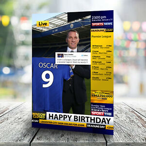 Leicester City Birthday Card - Personalised With Any Name and Age. Football