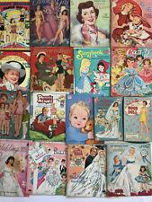 Vintage Paper Dolls Lot 17 1950-60s Sets Cut As Is Folders Bride Celebrities +