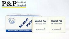 Sterile Alcohol Prep Pads Antiseptic Wipes Latex Free Non Woven Box of 400