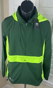 Under Armour Accelerate Off-Pitch Anorak Green Jacket 1365422-301, Women's Large