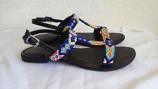 New Freebird Juno black-multi sandals. sz7.RT$89.Authentic!
