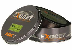 Fox Exocet - Mono Trans Khaki Carp Line / Monofilament - All Breaking Strains