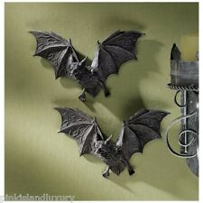 2 Count Dracula VAMPIRE BATS HALLOWEEN Wall Sculpture Statue Unique Goth Decor