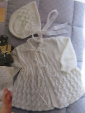 baby/ toddler knitting pattern jacket, bonnet and bootees 3 ply