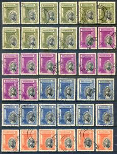 Zanzibar 1936 Silver Jubilee of the Sultan set 4 x 10 fine used (2020/09/20#06)