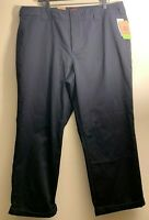 NWT Dickies Relaxed Crop Roll Hem Womens Size 18 Black High Rise Work Pants