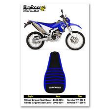 2008-2014 YAMAHA WR 250 X & R Blue/Black/Blue RIBBED SEAT COVER BY Enjoy MFG