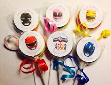 Power Rangers Swirl/Twirl Lollipop Candy/Party Favor Personalized 12 Count