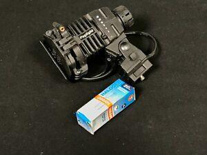 12v Pag Camera Light with Daylight Filter, Diffuser & barn doors + Spare Bulb