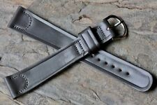 Extra Long vintage grey 19mm Shell Cordovan old watch strap 1950s New Old Stock