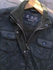 BARBOUR ! WOMENS 10 UTILITY POLARQUILT JACKET OLIVE QUILTED PADDED FLEECE COAT