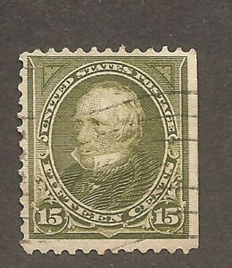 United States USA - 1898 Henry Clay Fifteen Cents Olive-Green, S wmk. P12