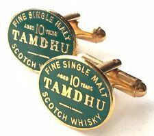 Tamdhu Malt Scotch Whisky Enamel Crested Cufflinks (N95) Gift Boxed