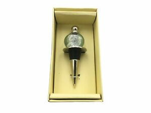 """Cypress Home 4"""" Sea Glass Bottle Wine Bottle Cork Stopper - BE8297M"""
