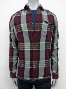 NWT Levi's Shirt Burgan Beige Plaid Skateboarding Collection - L - HM550919