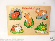 ♥ Jouet Puzzle Fisher Price Vintage En Bois